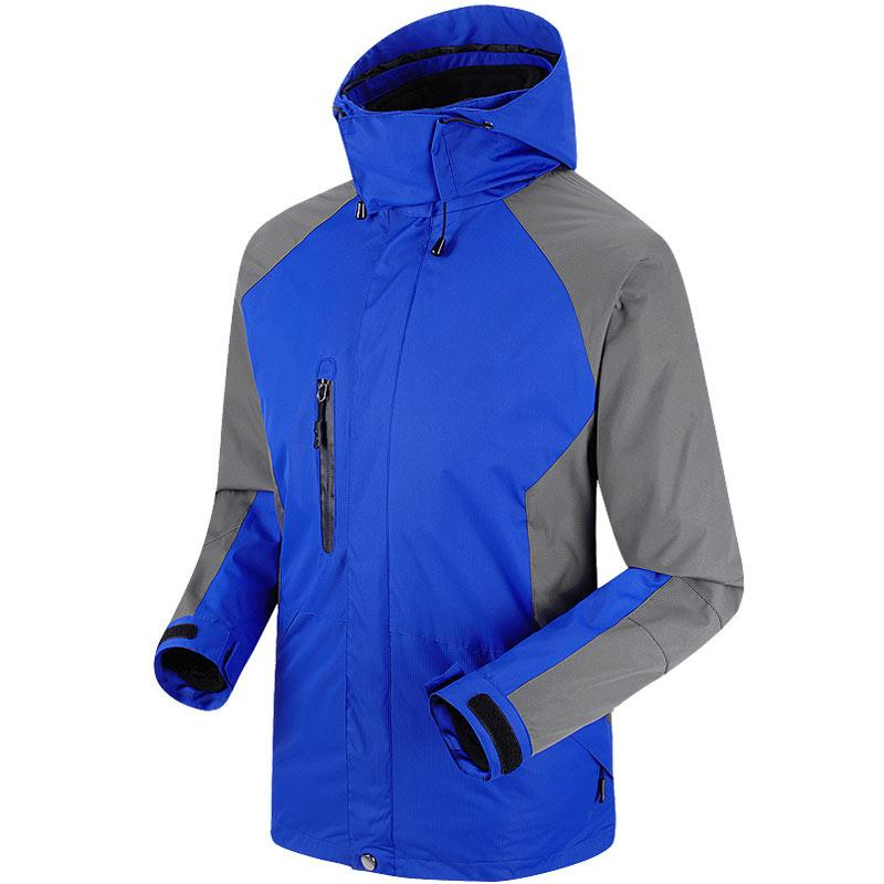 Men Waterproof Windproof Jackets Sportswear Softshell Jacket Fishing Skiing-Jackets-Bargain Bait Box-Sapphire blue-S-Bargain Bait Box