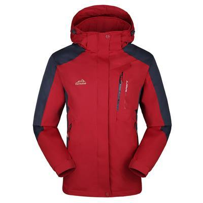 Men Women Jacket Camping Windbreaker Coat Men Women Waterproof Windproof Sport-Jackets-Bargain Bait Box-men red-XL-Bargain Bait Box