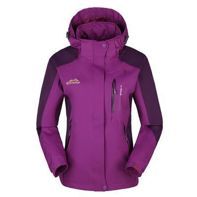 Men Women Jacket Camping Windbreaker Coat Men Women Waterproof Windproof Sport-Jackets-Bargain Bait Box-women purple-XL-Bargain Bait Box