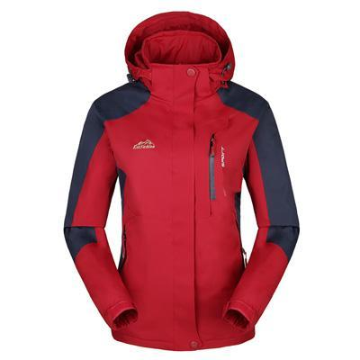 Men Women Jacket Camping Windbreaker Coat Men Women Waterproof Windproof Sport-Jackets-Bargain Bait Box-women red-XL-Bargain Bait Box