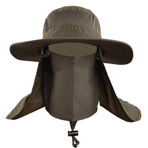 Men Women Large Round Brim Sun Block Quick Drying Fishing Hats Sun Cap For-Hats-Bargain Bait Box-light gray-Bargain Bait Box