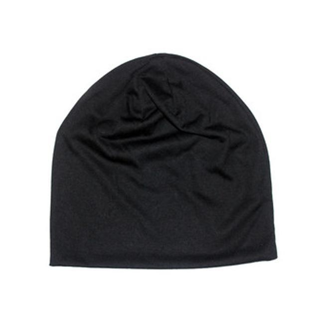 Men'S Beanies Hat Cap Men Casual Sports Cotton Turtleneck Male Wind Hats For Men-Beanies-Bargain Bait Box-BK-Bargain Bait Box
