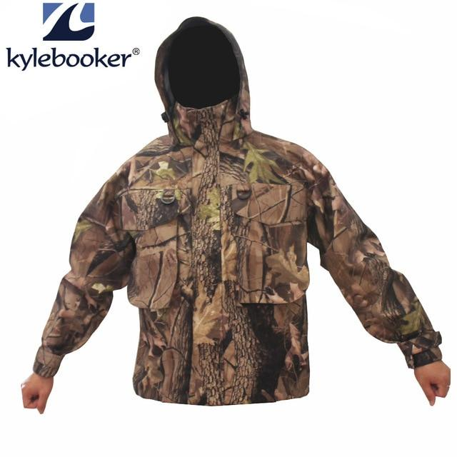 Men'S Breathable Fly Fishing Wading Jacket Waterproof Fishing Wader-Fishing Clothings-Kylebooker Official Store-L-Camo-Bargain Bait Box