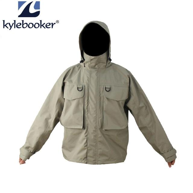 Men'S Breathable Fly Fishing Wading Jacket Waterproof Fishing Wader-Fishing Clothings-Kylebooker Official Store-L-Gray-Bargain Bait Box