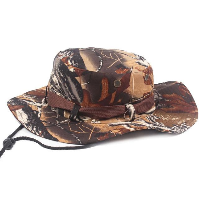 Mens Camo Camo Combat Bush Hat Fishing Military Cotton Boonie Cap Hatcs0510-Hats-Bargain Bait Box-S215 01-Bargain Bait Box