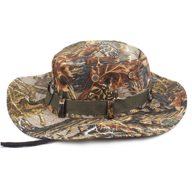 Mens Camo Camo Combat Bush Hat Fishing Military Cotton Boonie Cap Hatcs0510-Hats-Bargain Bait Box-S215 02-Bargain Bait Box