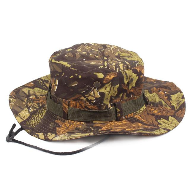 Mens Camo Camo Combat Bush Hat Fishing Military Cotton Boonie Cap Hatcs0510-Hats-Bargain Bait Box-S215 03-Bargain Bait Box