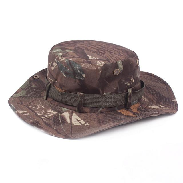 Mens Camo Camo Combat Bush Hat Fishing Military Cotton Boonie Cap Hatcs0510-Hats-Bargain Bait Box-S215 04-Bargain Bait Box