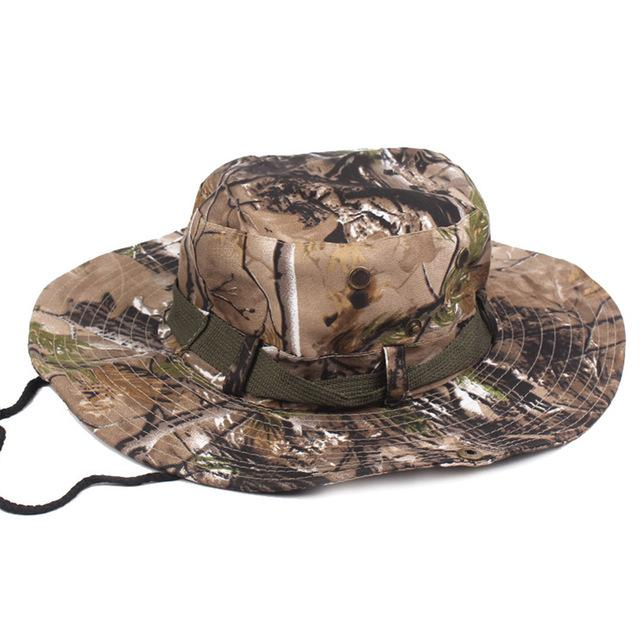 Mens Camo Camo Combat Bush Hat Fishing Military Cotton Boonie Cap Hatcs0510-Hats-Bargain Bait Box-S215 05-Bargain Bait Box