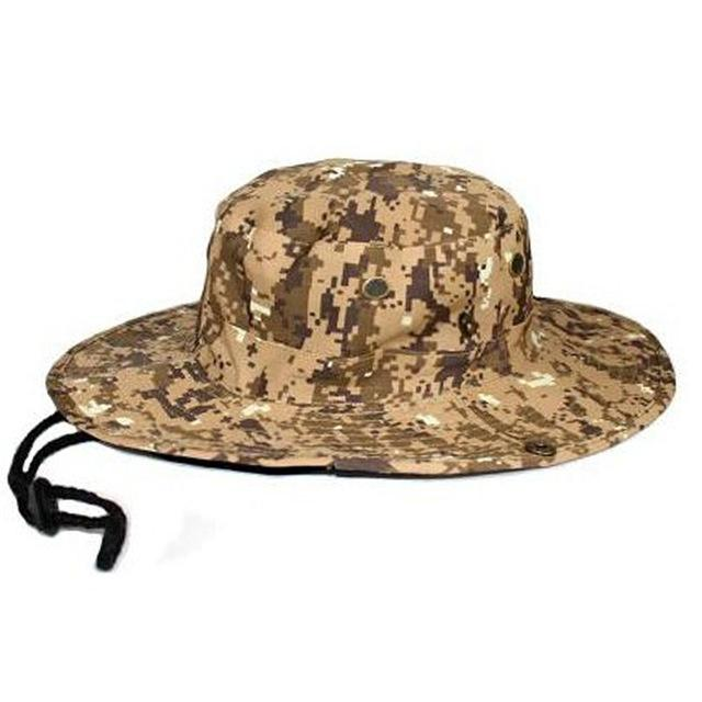 Mens Camo Camo Combat Bush Hat Fishing Military Cotton Boonie Cap Hatcs0510-Hats-Bargain Bait Box-S232-Yellow-Bargain Bait Box
