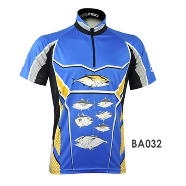 Mens Fishing Shirt Fishing Jersey Jacket Camisa De Clothes Quick Dry Short-Fishing Shirts-Bargain Bait Box-BA032-L-Bargain Bait Box
