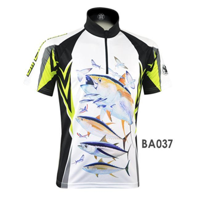 Mens Fishing Shirt Fishing Jersey Jacket Camisa De Clothes Quick Dry Short-Fishing Shirts-Bargain Bait Box-BA037-L-Bargain Bait Box