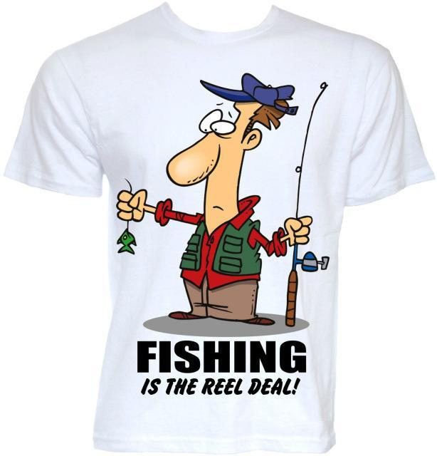 Mens Funny Cool Novelty Joke Fishinger T-Shirts Gifts Slogan T Shirt Novelty-Shirts-Bargain Bait Box-White-S-Bargain Bait Box