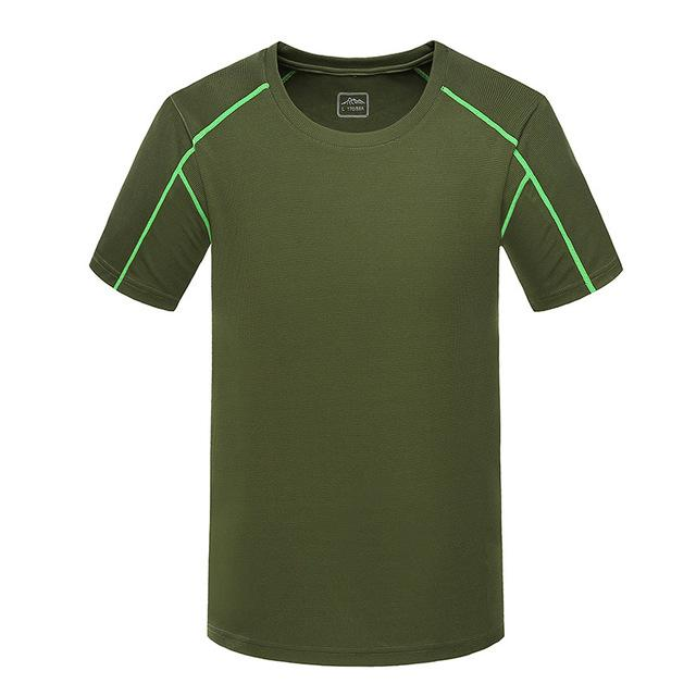 Men'S Quick Dry Breathable Top Shirts Trekking Fishing Male Short Sleeve Ma086-Shirts-Bargain Bait Box-Army Green-5XL-Bargain Bait Box