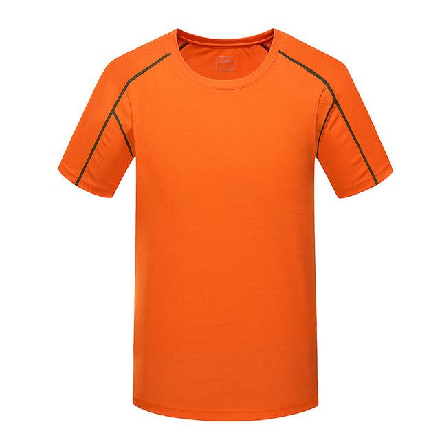 Men'S Quick Dry Breathable Top Shirts Trekking Fishing Male Short Sleeve Ma086-Shirts-Bargain Bait Box-Orange-5XL-Bargain Bait Box