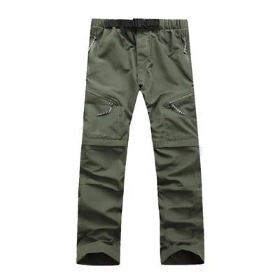 Men'S Quick Dry Removable Pants Sports Breathable Trousers Camping Trekking-Pants-Bargain Bait Box-Army Green-Asian Size S-Bargain Bait Box