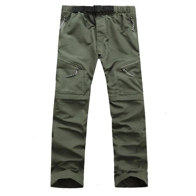Mens Removable Quick Dry Sport Hiking Outdoor Pants Men Trekking Fishing Camping-fishing pants-CIKRILAN Official Store-Army green-S-Bargain Bait Box