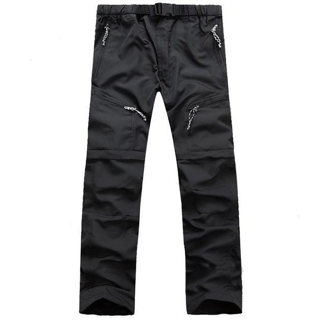 Mens Removable Quick Dry Sport Hiking Outdoor Pants Men Trekking Fishing Camping-fishing pants-CIKRILAN Official Store-Black-S-Bargain Bait Box