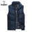 Mens Sleeveless Vest Casual S Male Cotton-Padded Men'S Vest Men Thicken Waist-Vests-Bargain Bait Box-Khaki-M-Bargain Bait Box