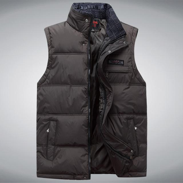 Men'S Sleeveless Vest Homme Casual S Male Cotton-Padded Men'S Warm Vest-Vests-Bargain Bait Box-Army Green-XL-Bargain Bait Box