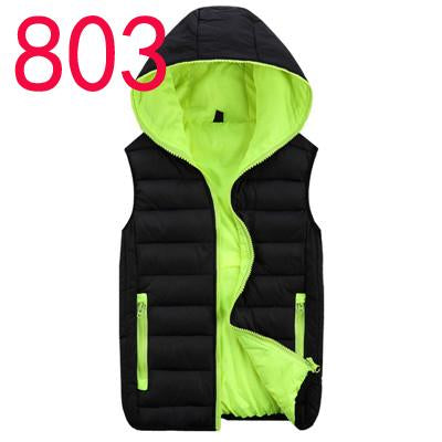 Men'S Vest Men Hooded Vest Male Cotton-Padded Waist And Warm Vest 3Xl 4Xl-Vests-Bargain Bait Box-Black Green-L-Bargain Bait Box