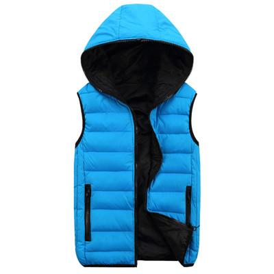 Men'S Vest Men Hooded Vest Male Cotton-Padded Waist And Warm Vest 3Xl 4Xl-Vests-Bargain Bait Box-Blue-M-Bargain Bait Box