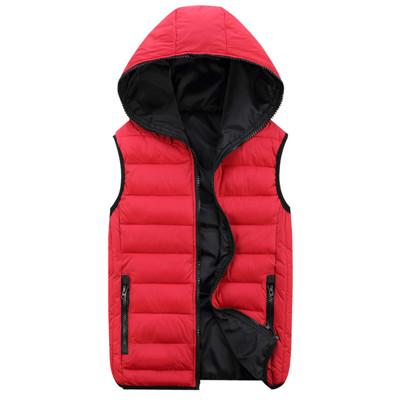 Men'S Vest Men Hooded Vest Male Cotton-Padded Waist And Warm Vest 3Xl 4Xl-Vests-Bargain Bait Box-Red-M-Bargain Bait Box