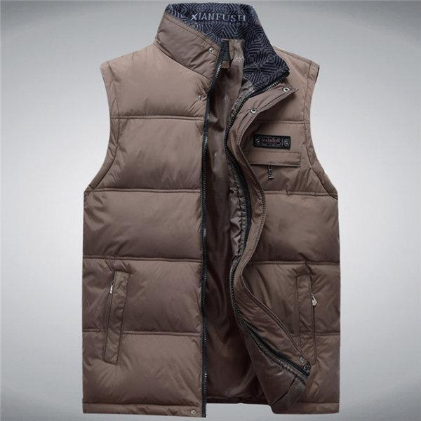 Men'S Vest Sleeveless Vests Homme Casual Male Plus Size 4Xl Warm Vest Men-Vests-Bargain Bait Box-Kahki-4XL-Bargain Bait Box