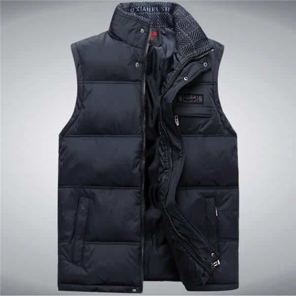 Men'S Vest Sleeveless Vests Homme Casual Male Plus Size 4Xl Warm Vest Men-Vests-Bargain Bait Box-Navy-4XL-Bargain Bait Box