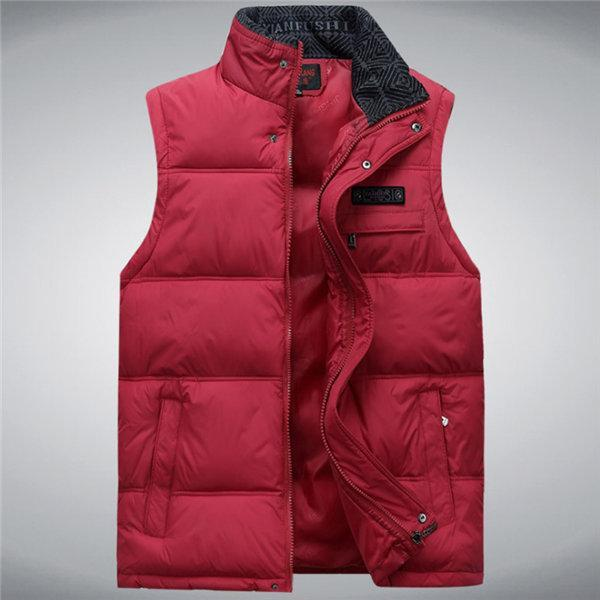 Men'S Vest Sleeveless Vests Homme Casual Male Plus Size 4Xl Warm Vest Men-Vests-Bargain Bait Box-Red-4XL-Bargain Bait Box