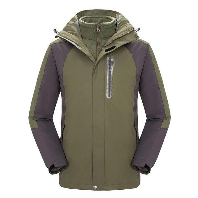 Mens Windbreaker Waterproof Snowboard Skiing Jacket Men Camping Fishing Coat-Jackets-Bargain Bait Box-Army Green-S-Bargain Bait Box