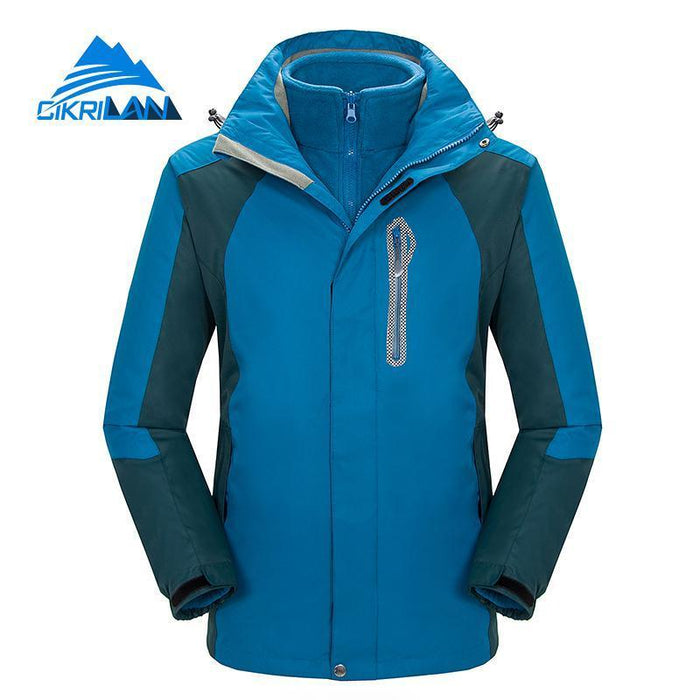 Mens Windbreaker Waterproof Snowboard Skiing Jacket Men Camping Fishing Coat-Jackets-Bargain Bait Box-Blue-S-Bargain Bait Box