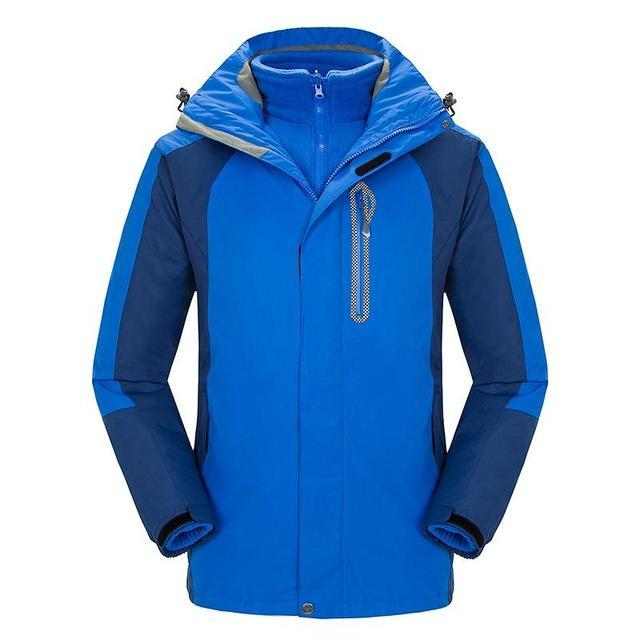 Mens Windbreaker Waterproof Snowboard Skiing Jacket Men Camping Fishing Coat-Jackets-Bargain Bait Box-Sapphire blue-S-Bargain Bait Box