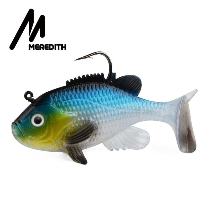 "Meredith 3.15"" Sunfish 3Pcs 21.6G 8Cm Lead Head Fishing Lure Artificial Soft-Fishing Lures-MEREDITH Official Store-A-Bargain Bait Box"