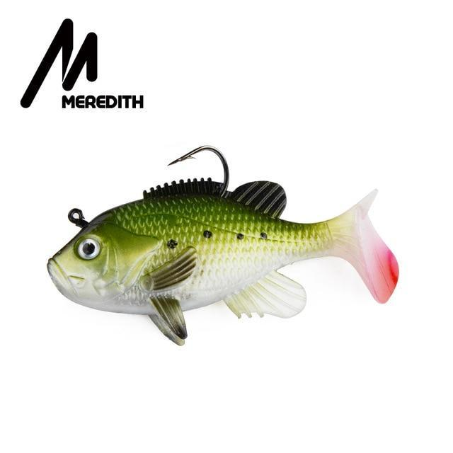 "Meredith 3.15"" Sunfish 3Pcs 21.6G 8Cm Lead Head Fishing Lure Artificial Soft-Fishing Lures-MEREDITH Official Store-C-Bargain Bait Box"
