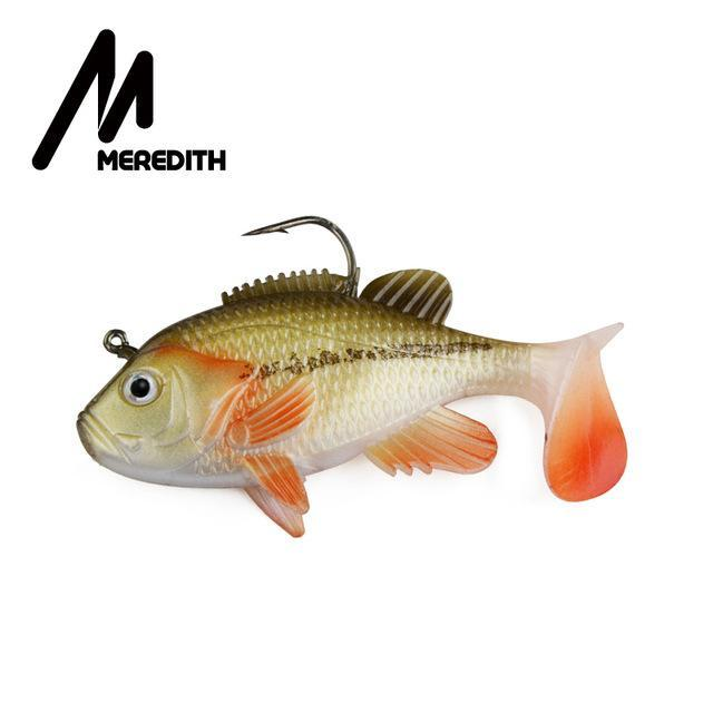 "Meredith 3.15"" Sunfish 3Pcs 21.6G 8Cm Lead Head Fishing Lure Artificial Soft-Fishing Lures-MEREDITH Official Store-D-Bargain Bait Box"