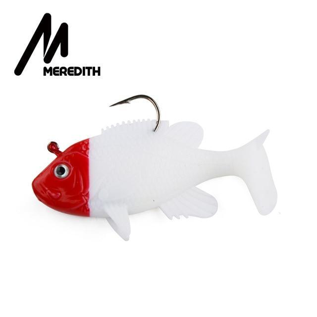 "Meredith 3.15"" Sunfish 3Pcs 21.6G 8Cm Lead Head Fishing Lure Artificial Soft-Fishing Lures-MEREDITH Official Store-E-Bargain Bait Box"
