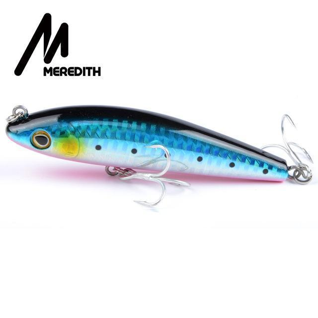 Meredith Hot Model Retail Fishing Lures,Hard Bait Assorted Colors, Popper 90Mm-MEREDITH Official Store-F-Bargain Bait Box