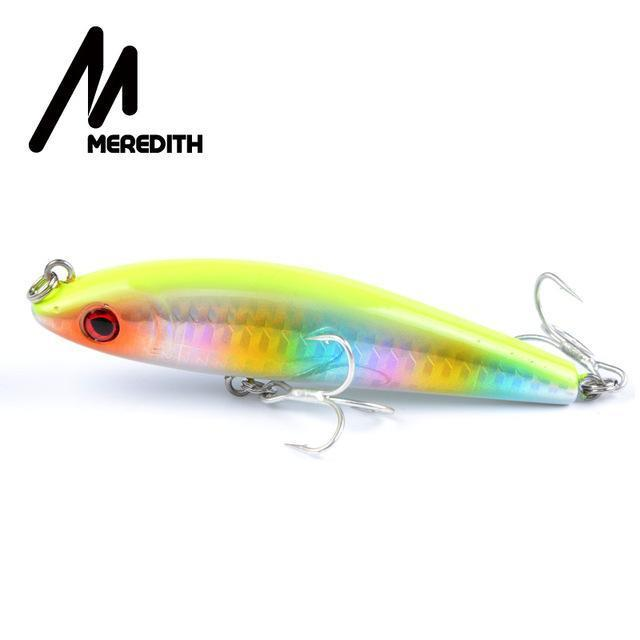 Meredith Hot Model Retail Fishing Lures,Hard Bait Assorted Colors, Popper 90Mm-MEREDITH Official Store-J-Bargain Bait Box