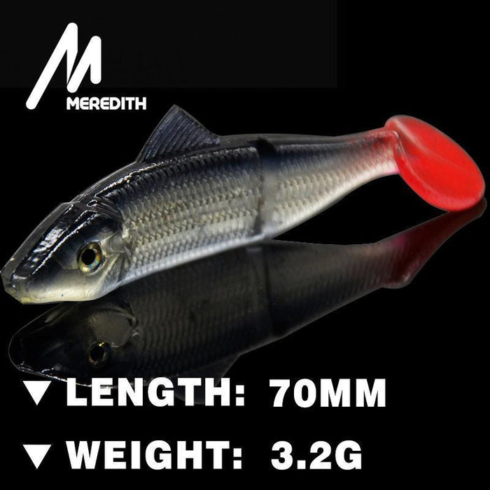 Meredith Lure Jx03-07 Retail Hot Seller 10Pcs 70Mm 3.2G Fishing Fish Soft Lure-MEREDITH Official Store-A-Bargain Bait Box
