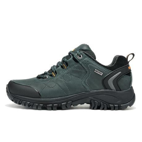Merrto Man Waterproof Outdoor Shoes Mountain Breathable Genuine Leather Hiking-MERRTO Official Store-Blue-6.5-Bargain Bait Box