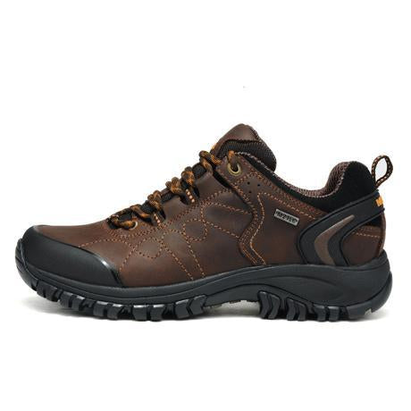 Merrto Man Waterproof Outdoor Shoes Mountain Breathable Genuine Leather Hiking-MERRTO Official Store-Brown-6.5-Bargain Bait Box