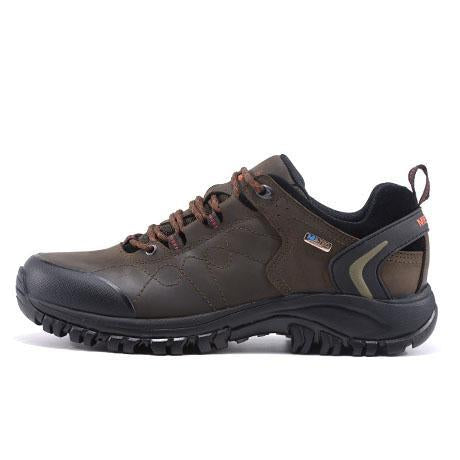 Merrto Man Waterproof Outdoor Shoes Mountain Breathable Genuine Leather Hiking-MERRTO Official Store-Dark Grey-6.5-Bargain Bait Box