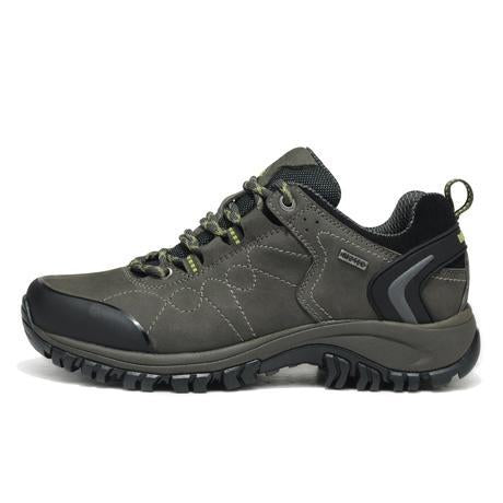 Merrto Man Waterproof Outdoor Shoes Mountain Breathable Genuine Leather Hiking-MERRTO Official Store-Gray-6.5-Bargain Bait Box