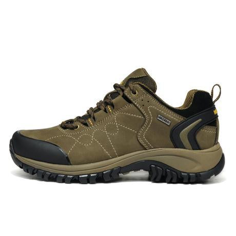 Merrto Man Waterproof Outdoor Shoes Mountain Breathable Genuine Leather Hiking-MERRTO Official Store-Khaki-6.5-Bargain Bait Box