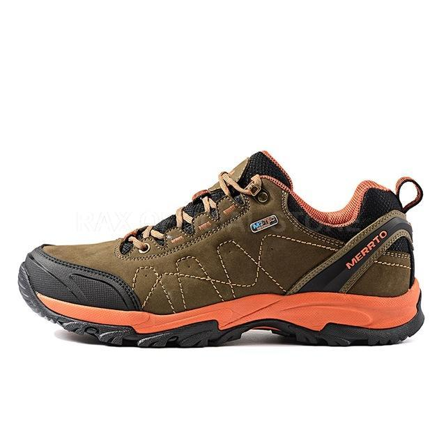 Merrto Men Women Hiking Shoes Genuine Leather Hiking Boots Trekking Shoes-LKT Sporting Goods Store-Ganlanse sneakers-38-Bargain Bait Box