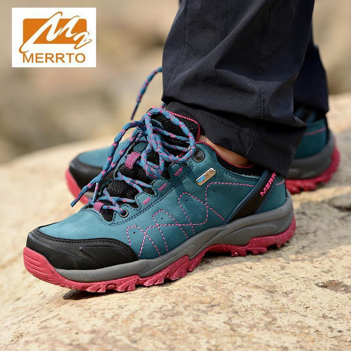 Merrto Men Women Hiking Shoes Genuine Leather Hiking Boots Trekking Shoes-LKT Sporting Goods Store-Yueyalan women-38-Bargain Bait Box