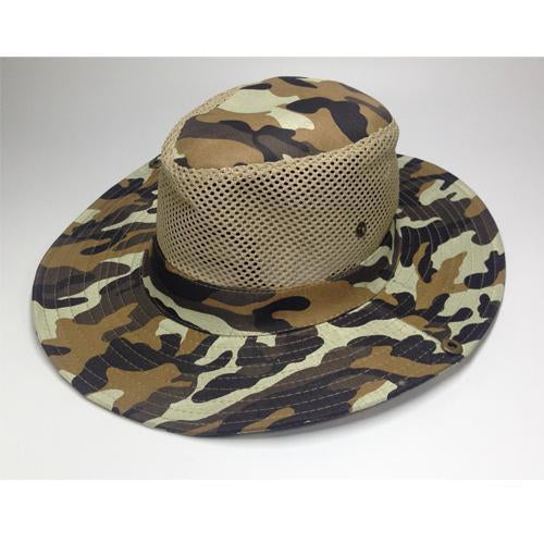 Mesh Bucket Hat For Men Camo Fishing Hat Boonie Hunting Wide Brim Cap Fishman Uv-Hats-Bargain Bait Box-C1 Camo hat bucket-Bargain Bait Box