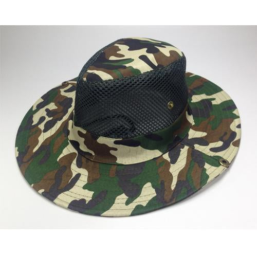 Mesh Bucket Hat For Men Camo Fishing Hat Boonie Hunting Wide Brim Cap Fishman Uv-Hats-Bargain Bait Box-C2 Camo hat bucket-Bargain Bait Box