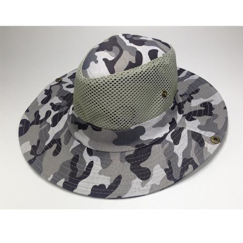 Mesh Bucket Hat For Men Camo Fishing Hat Boonie Hunting Wide Brim Cap Fishman Uv-Hats-Bargain Bait Box-C3 Camo hat bucket-Bargain Bait Box